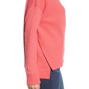 Caslon Pink Side Slit Sweatshirt